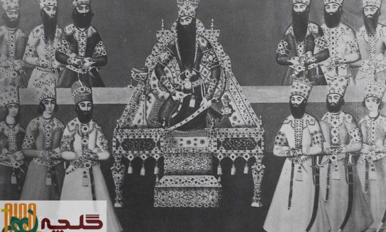 نقوش شاهی در قالیچههای تصویری
