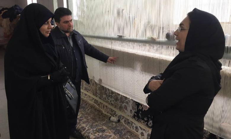دکتر فرحناز رافع، رییس مرکز ملی فرش عصر امروز از چند کارگاه قالیبافی در روستای امیرآباد از توابع شهر گرگان بازدید کرد.
