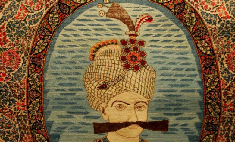 نقوش شاهان در قالیچه های تصویری
