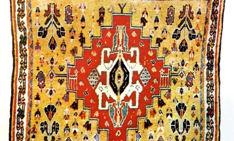 نماد چهارنگاره در قالی- خورجین قشقایی
