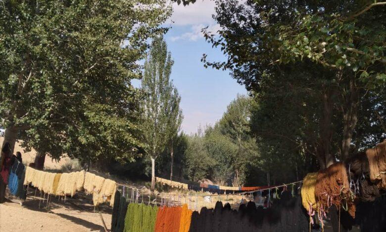 رقص نخ های رنگی در جوار چشمه «ماهک»