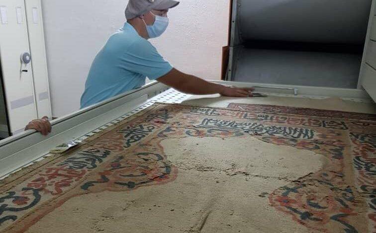 تجهیز مخزن موزه فرش ایران